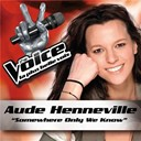 Aude Henneville - Somewhere only we know - the voice : la plus belle voix